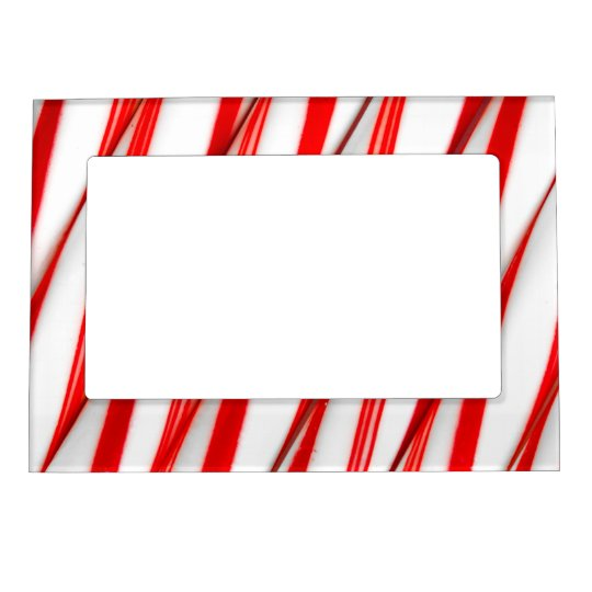Funky Chrstmas Candy Canes Magnetic Picture Frame