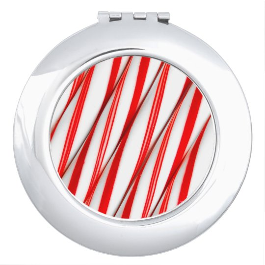 Funky Chrstmas Candy Canes Makeup Mirrors