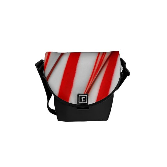 Funky Chrstmas Candy Canes Messenger Bag
