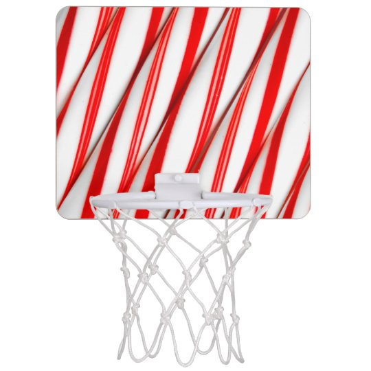 Funky Chrstmas Candy Canes Mini Basketball Hoop