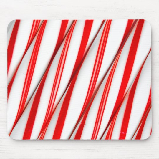 Funky Chrstmas Candy Canes Mouse Pad