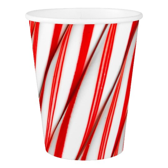 Funky Chrstmas Candy Canes Paper Cup
