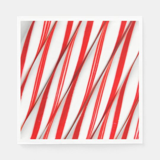 Funky Chrstmas Candy Canes Paper Napkins