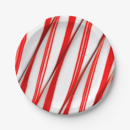 Funky Chrstmas Candy Canes Paper Plate