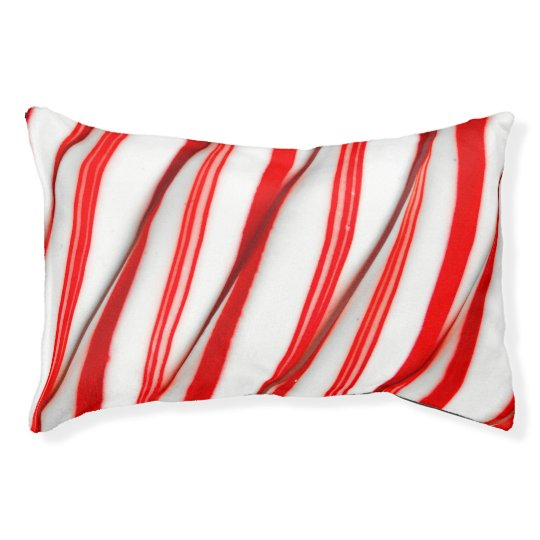Funky Chrstmas Candy Canes Pet Bed