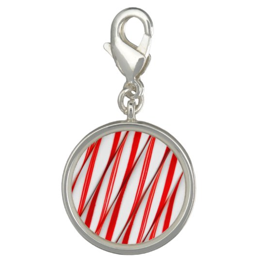 Funky Chrstmas Candy Canes Photo Charm