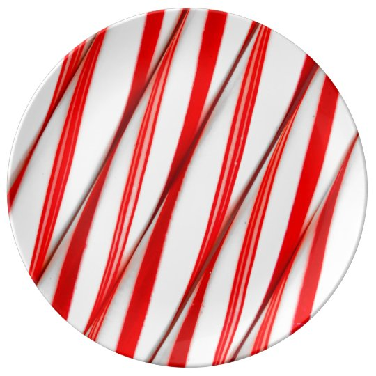 Funky Chrstmas Candy Canes Plate