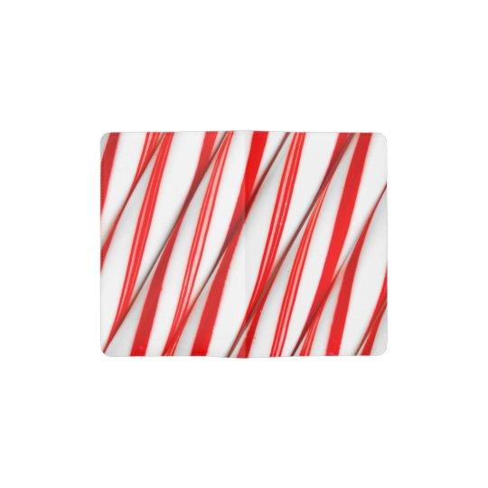 Funky Chrstmas Candy Canes Pocket Moleskine Notebook
