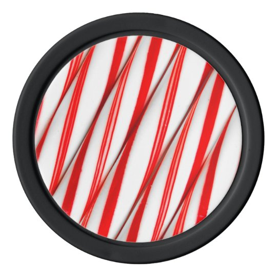 Funky Chrstmas Candy Canes Poker Chips