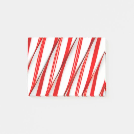 Funky Chrstmas Candy Canes Post-it Notes