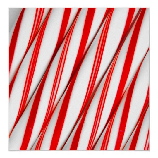 Funky Chrstmas Candy Canes Poster