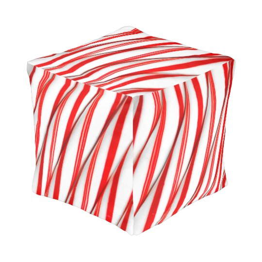 Funky Chrstmas Candy Canes Pouf