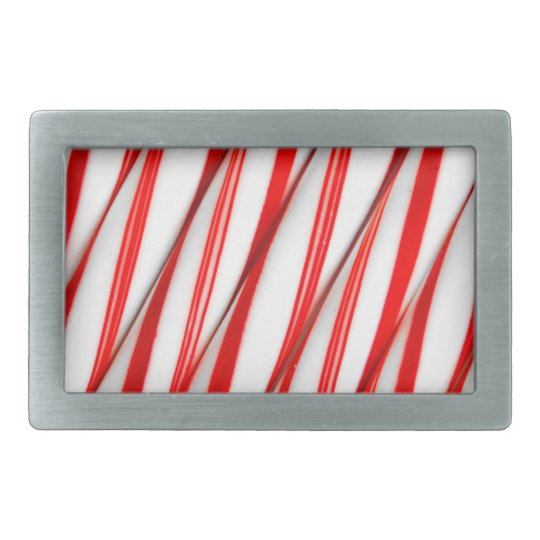 Funky Chrstmas Candy Canes Rectangular Belt Buckles