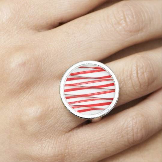 Funky Chrstmas Candy Canes Ring