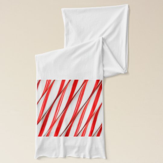 Funky Chrstmas Candy Canes Scarf
