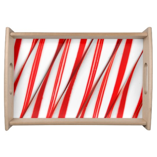 Funky Chrstmas Candy Canes Serving Tray