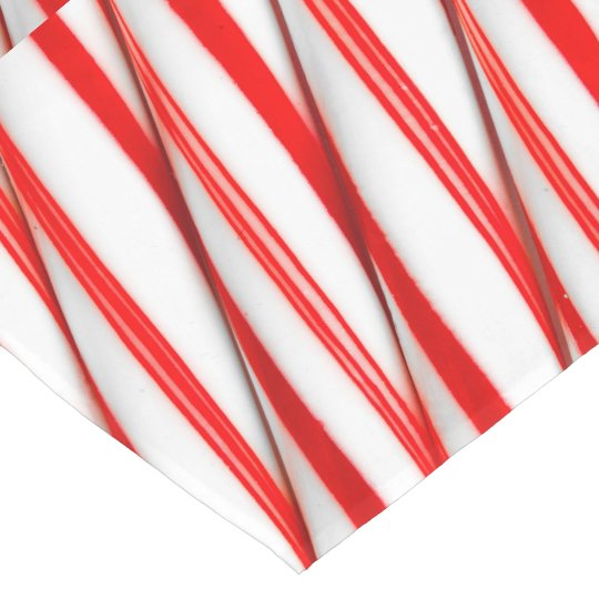 Funky Chrstmas Candy Canes Short Table Runner