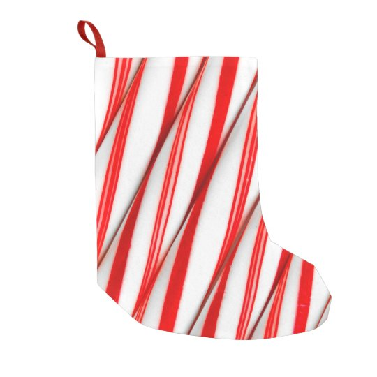 Funky Chrstmas Candy Canes Small Christmas Stocking