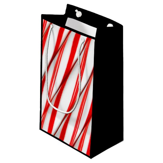 Funky Chrstmas Candy Canes Small Gift Bag