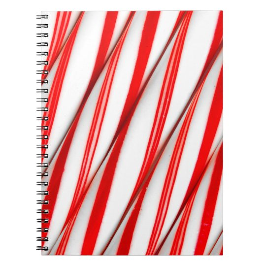 Funky Chrstmas Candy Canes Spiral Notebook