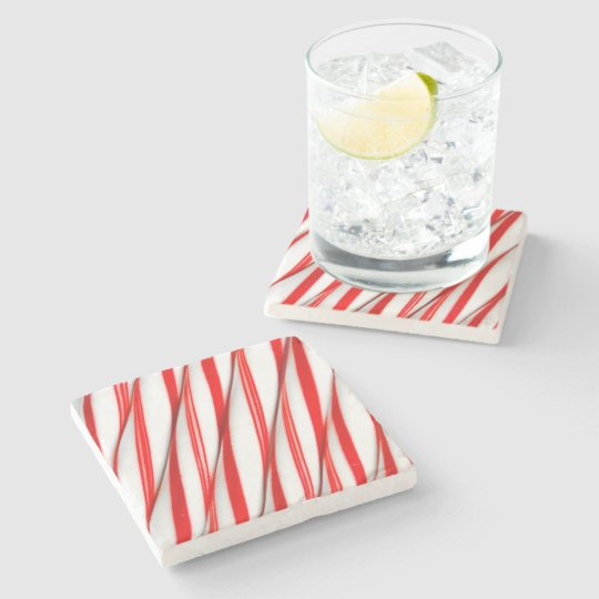 Funky Chrstmas Candy Canes Stone Coaster
