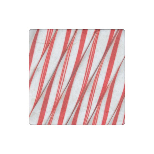 Funky Chrstmas Candy Canes Stone Magnets