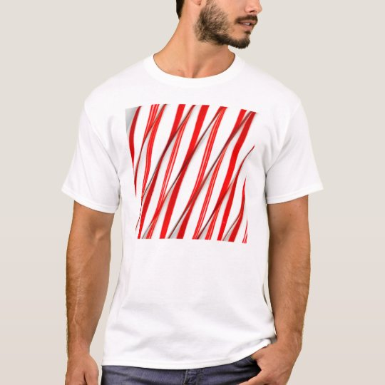 Funky Chrstmas Candy Canes T-Shirt