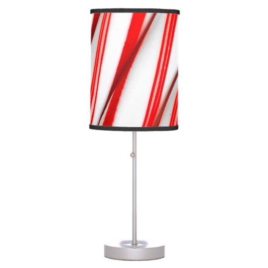 Funky Chrstmas Candy Canes Table Lamp