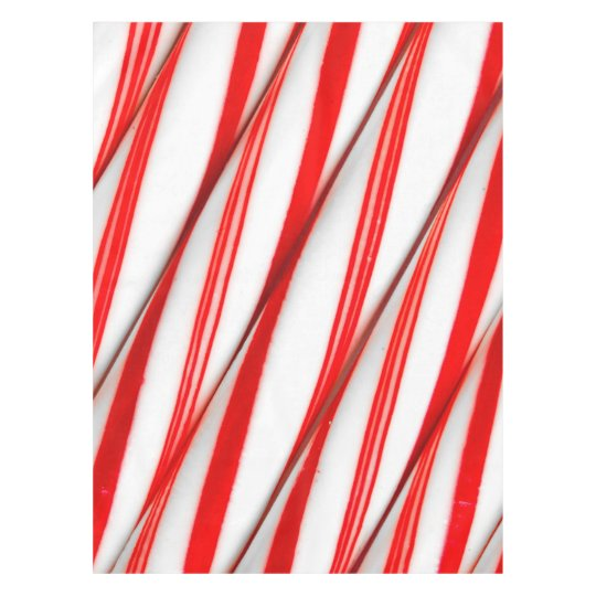 Funky Chrstmas Candy Canes Tablecloth