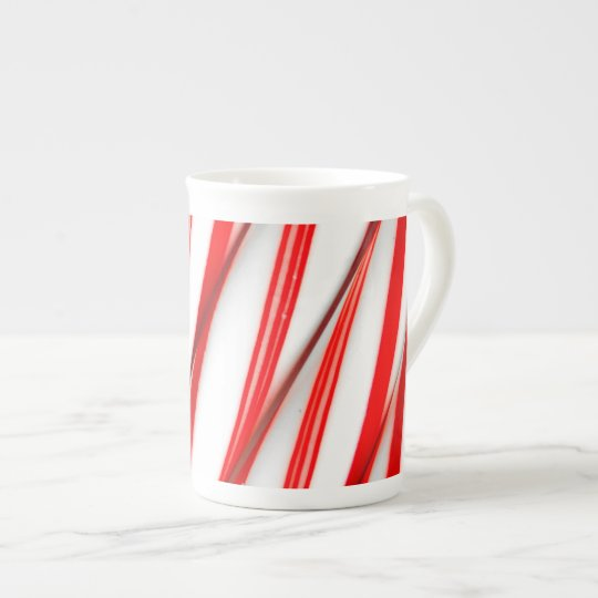 Funky Chrstmas Candy Canes Tea Cup