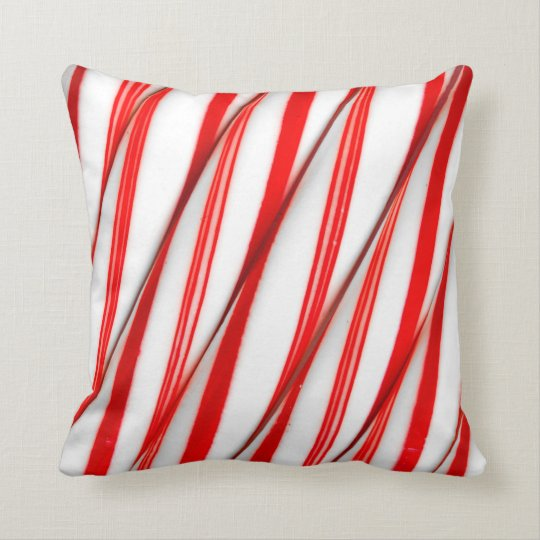 Funky Chrstmas Candy Canes Throw Pillow