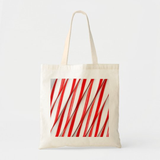 Funky Chrstmas Candy Canes Tote Bag