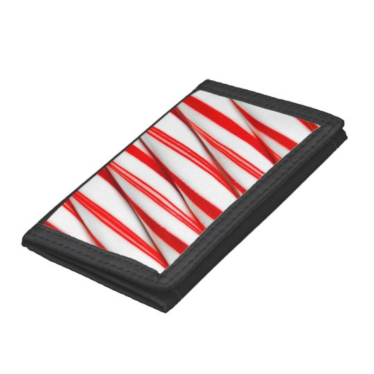 Funky Chrstmas Candy Canes Tri-fold Wallet