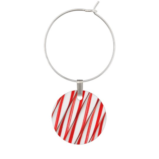 Funky Chrstmas Candy Canes Wine Charm