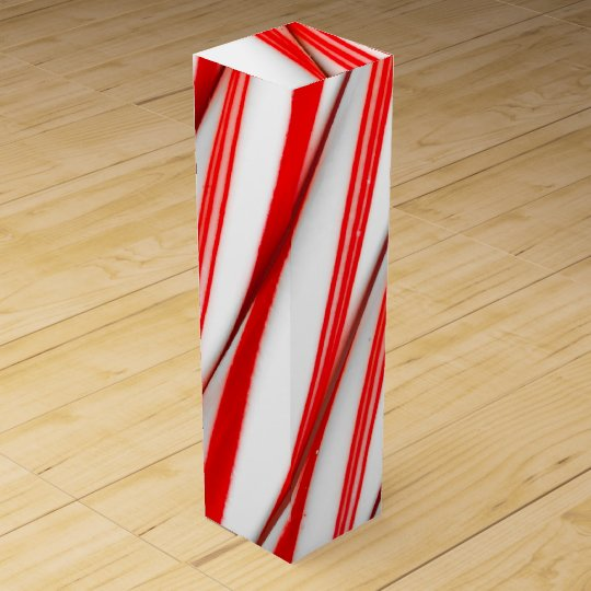Funky Chrstmas Candy Canes Wine Gift Box