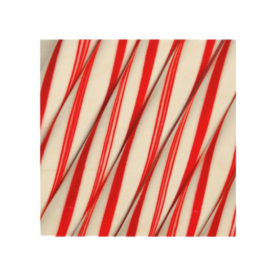 Funky Chrstmas Candy Canes Wood Wall Art