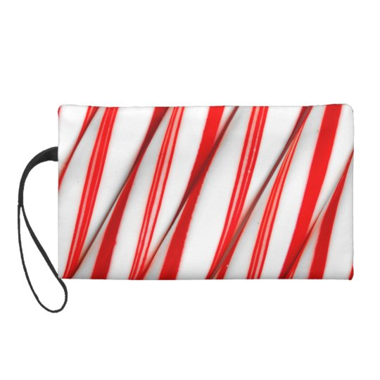 Funky Chrstmas Candy Canes Wristlet