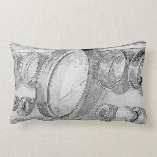 Funky Chrysler Dashboard Sketch Throw Pillow