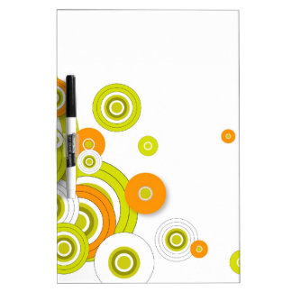Funky circles on white dry erase board