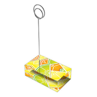 Funky citrus wedges table card holder