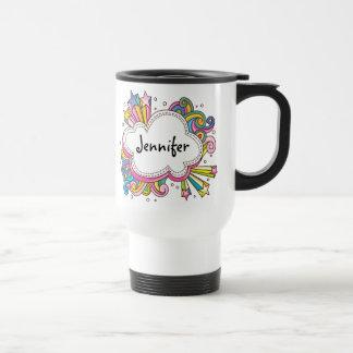 Funky Cloud Personalized Travel Mug