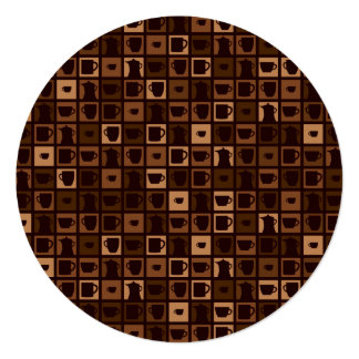 Funky coffee mosaic card