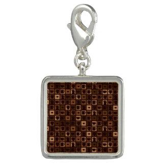 Funky coffee mosaic charms