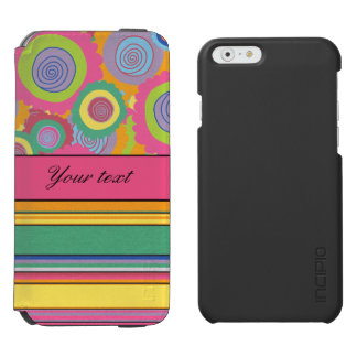 Funky Colorful Flowers and Stripes Incipio Watson™ iPhone 6 Wallet Case