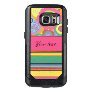 Funky Colorful Flowers and Stripes OtterBox Samsung Galaxy S7 Case