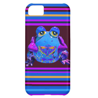 Funky Colorful Frog Blue Purple Funny Gifts iPhone 5C Covers