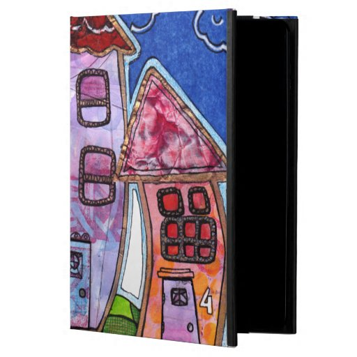 Funky Colorful Houses Cover For iPad Air