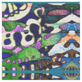 Funky Colorful Kaleidoscope Pattern Fabric