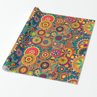 Funky Colorful Pattern Wrapping Paper