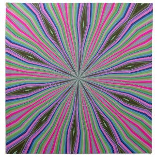 Funky coloured art design cloth napkins